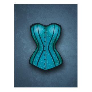 Pretty Blue Corset Postcard