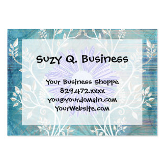 Pretty Blue Daisy Flower Pattern Gifts Large Business Card