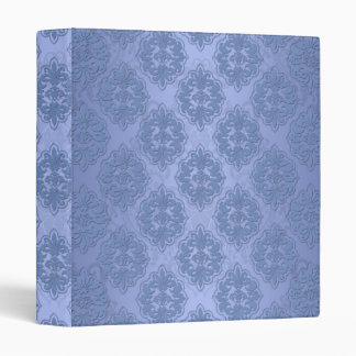 Pretty Blue Damask 3 Ring Binders