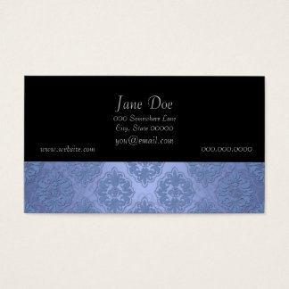Pretty Blue Damask Business Card