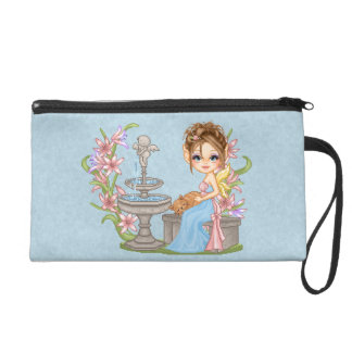 Pretty Blue Faery Pixel Art Wristlets