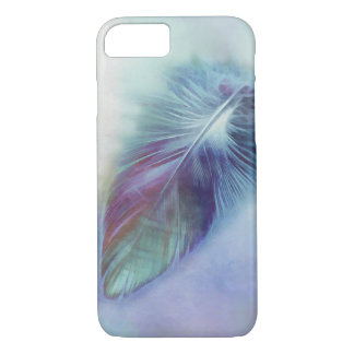 pretty blue feather art  iPhone 7 cover