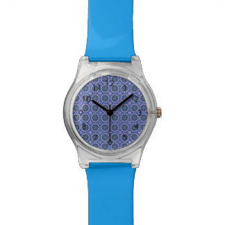 Pretty blue floral pattern wrist watches