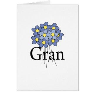 Pretty Blue Flower Gran T-shirt Card