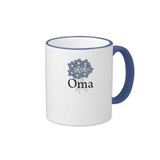 Pretty Blue Flower Oma T-shirt Ringer Mug
