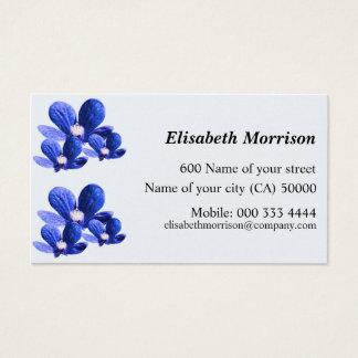 Pretty Blue Flowers Business Card