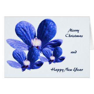 Pretty Blue Flowers Card