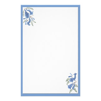 Pretty Blue Flowers Stationery