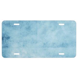 Pretty Blue Frozen Skies Background License Plate