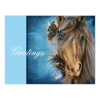 Pretty Blue Horse Postcard
