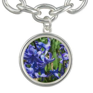 Pretty Blue Hyacinth Garden Flower Bracelet