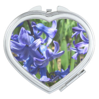 Pretty Blue Hyacinth Garden Flower Mirrors For Makeup
