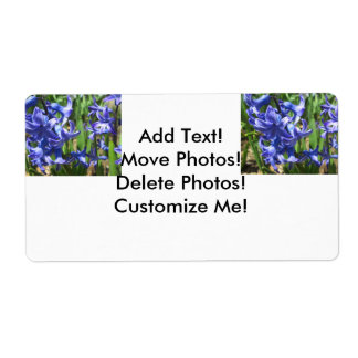 Pretty Blue Hyacinth Garden Flower Shipping Label