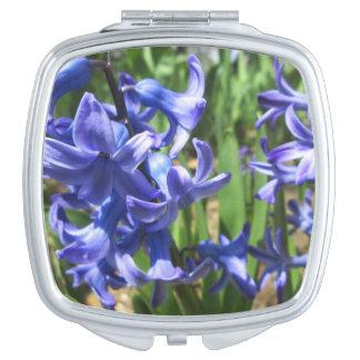 Pretty Blue Hyacinth Garden Flower Vanity Mirror