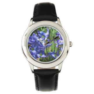 Pretty Blue Hyacinth Garden Flower Watches