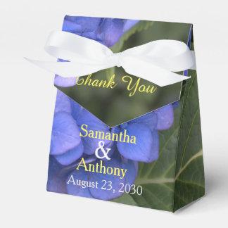 Pretty Blue Hydrangea Floral Wedding Thank You Favor Box