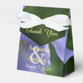 Pretty Blue Iris Floral Wedding Thank You Wedding Favor Box