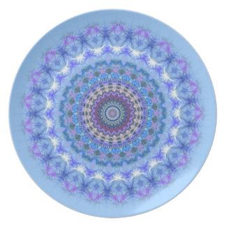Pretty blue Kaleidoscope Mandala plate
