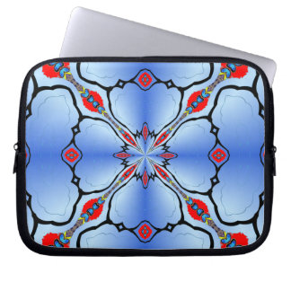 Pretty Blue Laptop Zip Case Artistic Gift