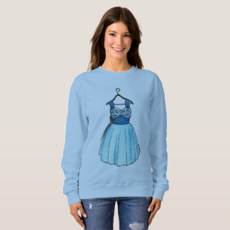 Pretty Blue Prom Dress Vintage Fashion Sweatshirt