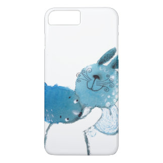 pretty blue rabbits IPHONE case