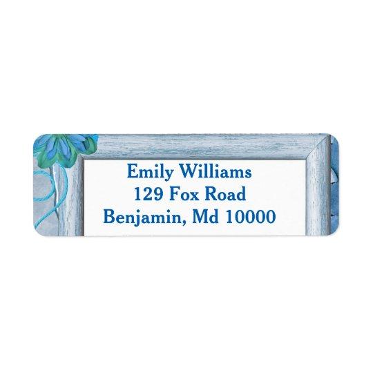 Pretty Blue Return Address Label