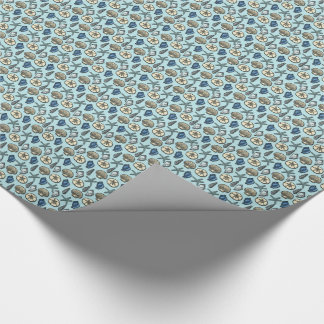 Pretty Blue Shell Starfish Sea Pattern