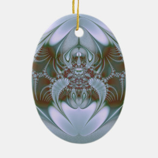 Pretty Blue Silk and Satin Look Ceramic Ornament