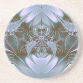 Pretty Blue Silk and Satin Look Drink Coasters