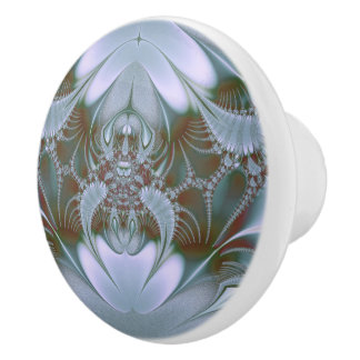 Pretty Blue Silk Look Ceramic Knob