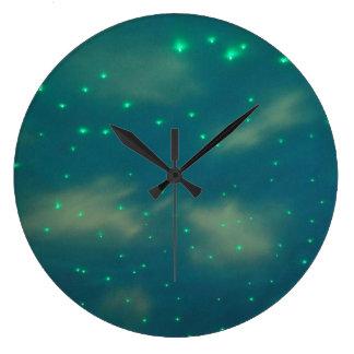 Pretty Blue Sky Lights Clock