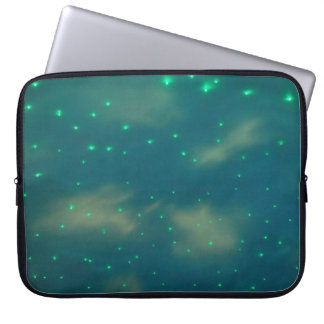 Pretty Blue Sky Lights Laptop Sleeve