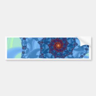Pretty Blue Spiral Icicle Design Bumper Sticker
