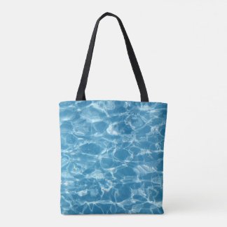 Pretty Blue Water Ripples Summer Tote