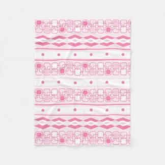 Pretty blush pink girly fleece blanket