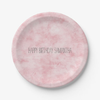 Pretty Blush Pink Watercolor Paper Plate