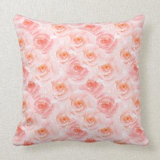 Blush Rose Throw Pillows : Blush Pink Floral Pillows, Square Blush Pink Floral Throw Pillows