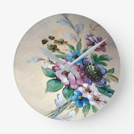 Pretty Bouquet of Flowers Wall Clock