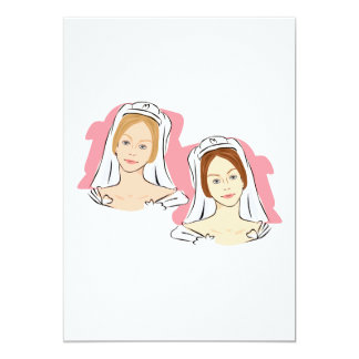 """Pretty Brides 5"""" X 7"""" Invitation Card"""