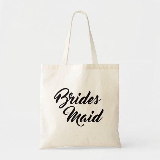 Pretty bridesmaid favour tote bag