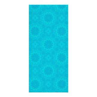 Pretty bright aqua blue kaleidoscope custom rack card