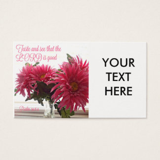 Pretty Business Cards With Pink Daisies