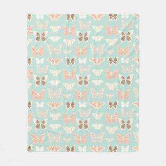 Pretty Butterflies Pattern Fleece Blanket
