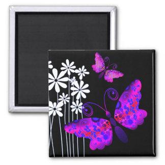 """""""Pretty Butterflies"""" (purple) by Cheryl Daniels Magnet"""