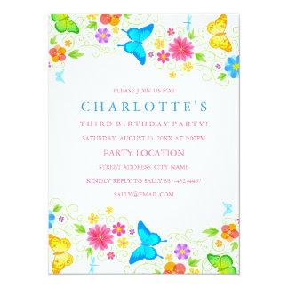 Pretty Butterfly Birthday Invitation