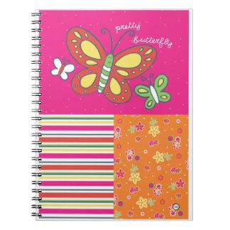 pretty butterfy notebook