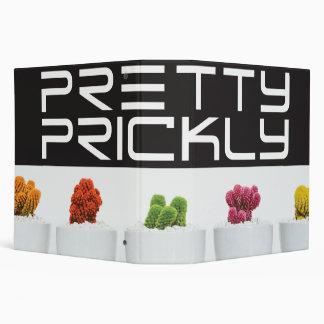 Pretty cactus vinyl binder