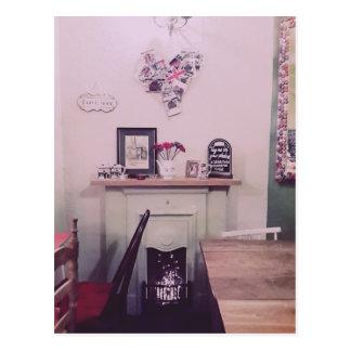 Pretty Cafe in London Postcard