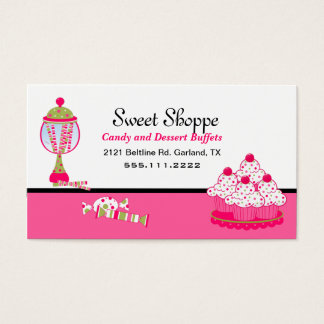 Pretty Candy and Desert Catering Business Card