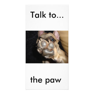 Pretty card French bulldog tallow to the paw Personalized Photo Card